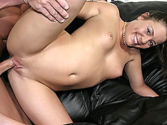 That lucky bastard Lee Stone is back and this time he's nailing nubile young Elise.  She's only just turned 18, so she's barely legal and totally cute!  While Lee lies back like a true pimp, she does a sexy striptease just for him, taunting him with her p