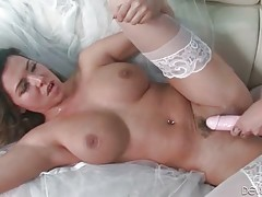 Two curvaceous babes perform amazing lesbian action.