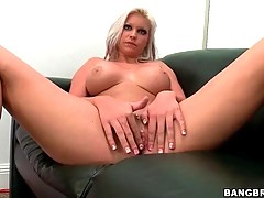 Handsome blonde is ready to have sexual fun