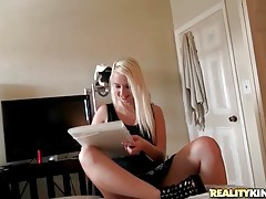 Tyler Steel wants to get his nude picture and Darcie Belle`s ready to do it.