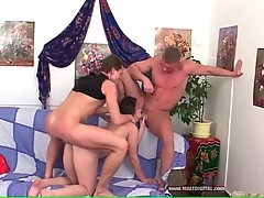 Lovely and horny chick is satisfying her amateur fucker