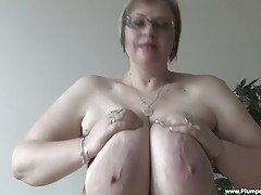 Watch BBW Gertruda, as she bangs deep in...