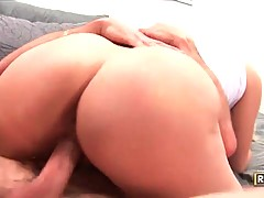 In this porn video you can see lovely bitch