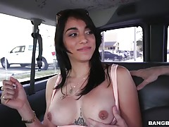 She starts banging on the van when we wo...