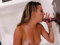 When she sees all the dirty movies with their lurid covers, Sophia is oddly curious. She`s also noticing her pussy, which is now tingly and suddenly very moist! After a brief exchange with one of the employees, Sophia can`t seem to take her eyes off the p